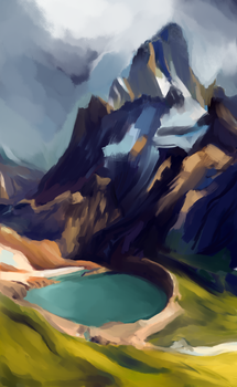 Mountain (WIP) by SarahDealerEvans