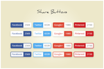 140 Share Buttons (freebie by pixelcave) by pixelcave