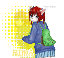 Rima and Mr. Turtle by Monserawr