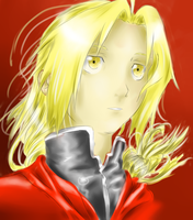 .S.Edward Elric COLOURED.V. by ReiChii15