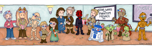 Star Wars The Phantom Menace 3D cartoon by beckadoodles