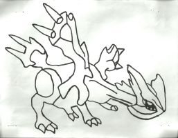 Kyurem Sketch by CoolMan666