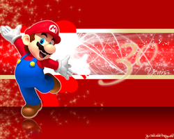 Mario's 30 Years Wallpaper by Chivi-chivik