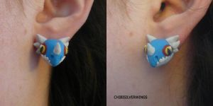 Stormfly (Deadly Nadder) Earrings by ChibiSilverWings