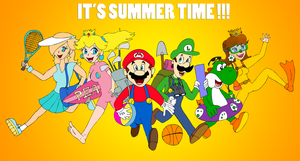 Mario Summer time by ZeFrenchM