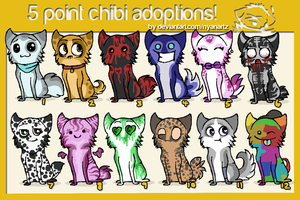 5 point chibis adoptions by NyanArtz