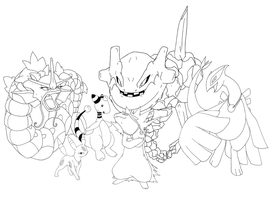 My pokemon team-lineart by Fly-Sky-High