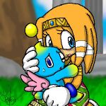 Tikal and a chao by So-Deep