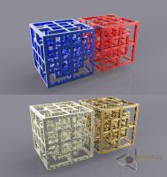 Cubes within Cubes within Cubes by Bahr3DCG