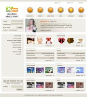 XMedia Web Interface by The-Deziners-Guild
