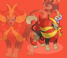 MEGA PYROAR (male - fan made) by delgalessio