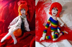 Ziggy Stardust Doll by RocknRoll1968