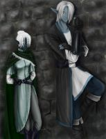 Two dark elves by Malenloth