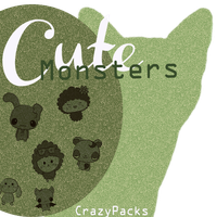 Cute Monsters|BRUSHERS by CrazyPacks