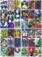 36 sketch card set of SPIDERMAN and Villains by mdavidct