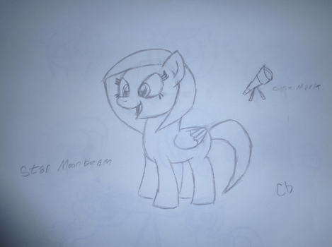 Early Moonbeam concept sketch by LittleLooney