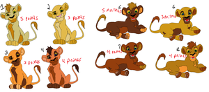 Cub Adopts 4 CLOSED by Howler-Adoptables