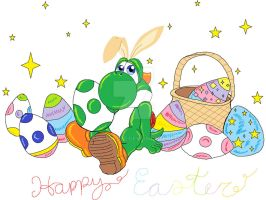Easter Yoshi by TheriaRose