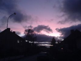 Purple sky in Sweden by Saabine