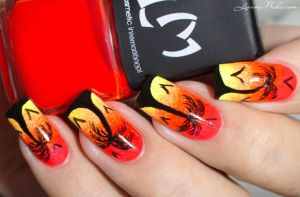 Sunset Nail Art by Lizananails