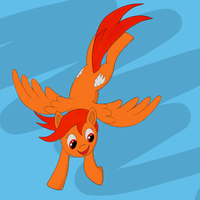 Cloudburn flying by theDawnfire