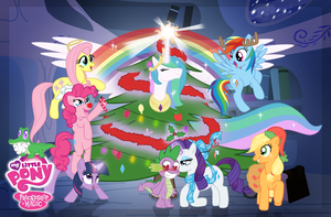 MLP X-Mas Advent Card: Christmas Harmony by LugiaAngel