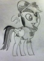 Daring Do - sketch.... by Shadowxnote