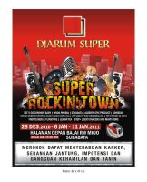 Poster SUPER ROCKIN TOWN by ignra