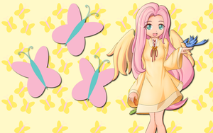 Human Fluttershy WP by AliceHumanSacrifice0