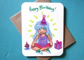 CARD 4.25x5.5 Girls HappyBirthday by SaltyMoose