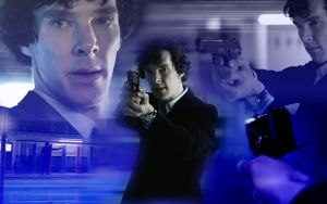 Sherlock (BBC) Wallpaper - I'll catch you later by SeaCat2401