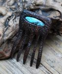 Ironwood + Turquoise Decorative Hair Comb by DreamingDragonDesign