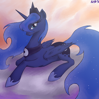Princess Luna by Bloodkiaser923