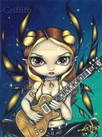Golden Guitar Fairy by jasminetoad