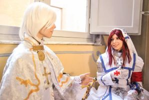 Trinity Blood Esther and Alessandro XVIII by AmuChiiHinamori