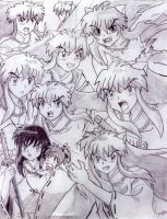Many Faces of InuYasha by chibisora