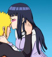 NaruHina Forehead Kiss by LadyCyco