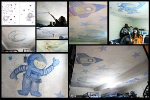 Painted ceiling at an Orphanage! Way fun! by aidpol