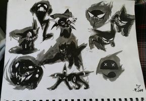 Fun with Ink and Wash by ChimeraReiax