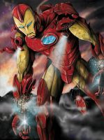 Battle Damaged Iron Man by jlonnett