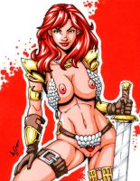 Naughty Red Sonja commission 2 by gb2k