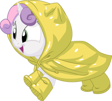 Sweetie Belle Raincoat by HerrMyrddin