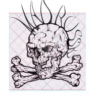 Book of Skulls for 3D specs Drawing I. by MADrussky