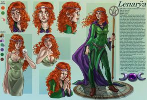 commission 32- Lenarya- character sheet by LadyDeddelit
