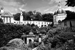 Portmerion in mono by CharmingPhotography
