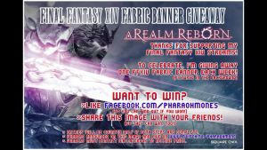 Final Fantasy XIV Fabric Banner Giveaway by Pharaohmones