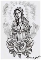 Holy Mary by konZ3pt