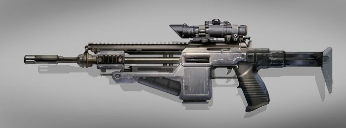 Assault Rifle by MeckanicalMind