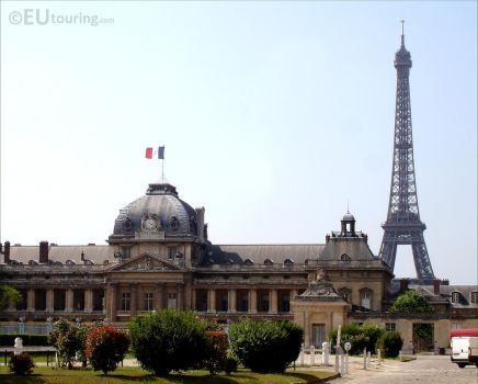 Ecole Militaire and the Eiffel Tower by EUtouring