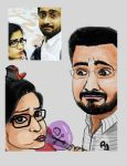 Cartoon session Ramya by ajaysartwork